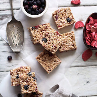 Brown Butter Mixed Berry Rice Krispy Treats