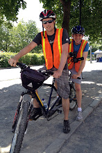 Photo: Bike tour in Montreal - Brock rode a tandem!