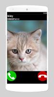 screenshot of fake call cat 2 game
