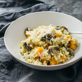 Butternut Squash Risotto With Mushroom