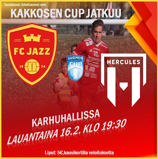 FC Jazz eteni lohkovaiheesta jatkoon Suomen Cupista ja saa vieraita Oulusta.