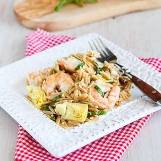 Shrimp & Artichoke Whole Wheat Pasta Salad.