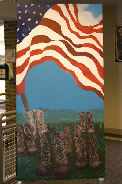 Photo: Artwork on display created by Cheryl Crone.