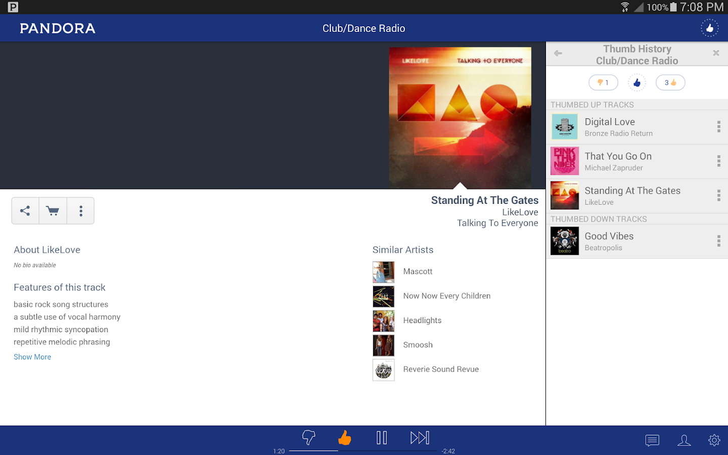 Pandora® Radio - screenshot
