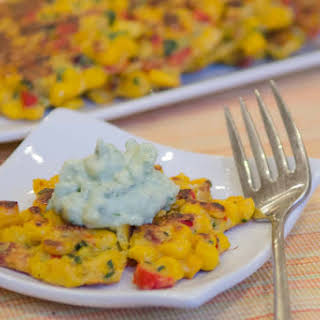 Corn and Yellow Squash Fritters.