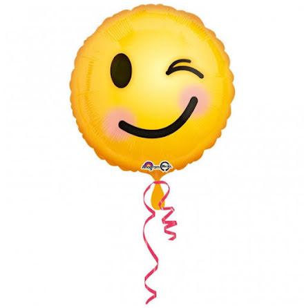 Folieballong Emoji, tvåsidig
