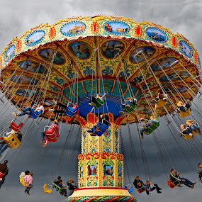 Merry Go Round by Irina Popova - City,  Street & Park  Amusement Parks