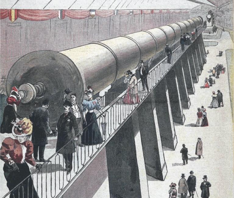 O telescópio grande demais para ser usado