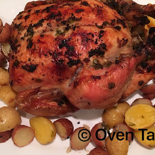 Garlicky Roast Chicken.