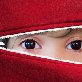 Inside Red Jacket by Agus Waluyo - Babies & Children Children Candids