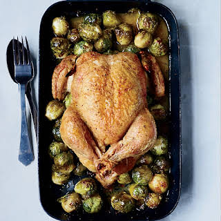 Whole Roast Chicken with 40 Brussels Sprouts.