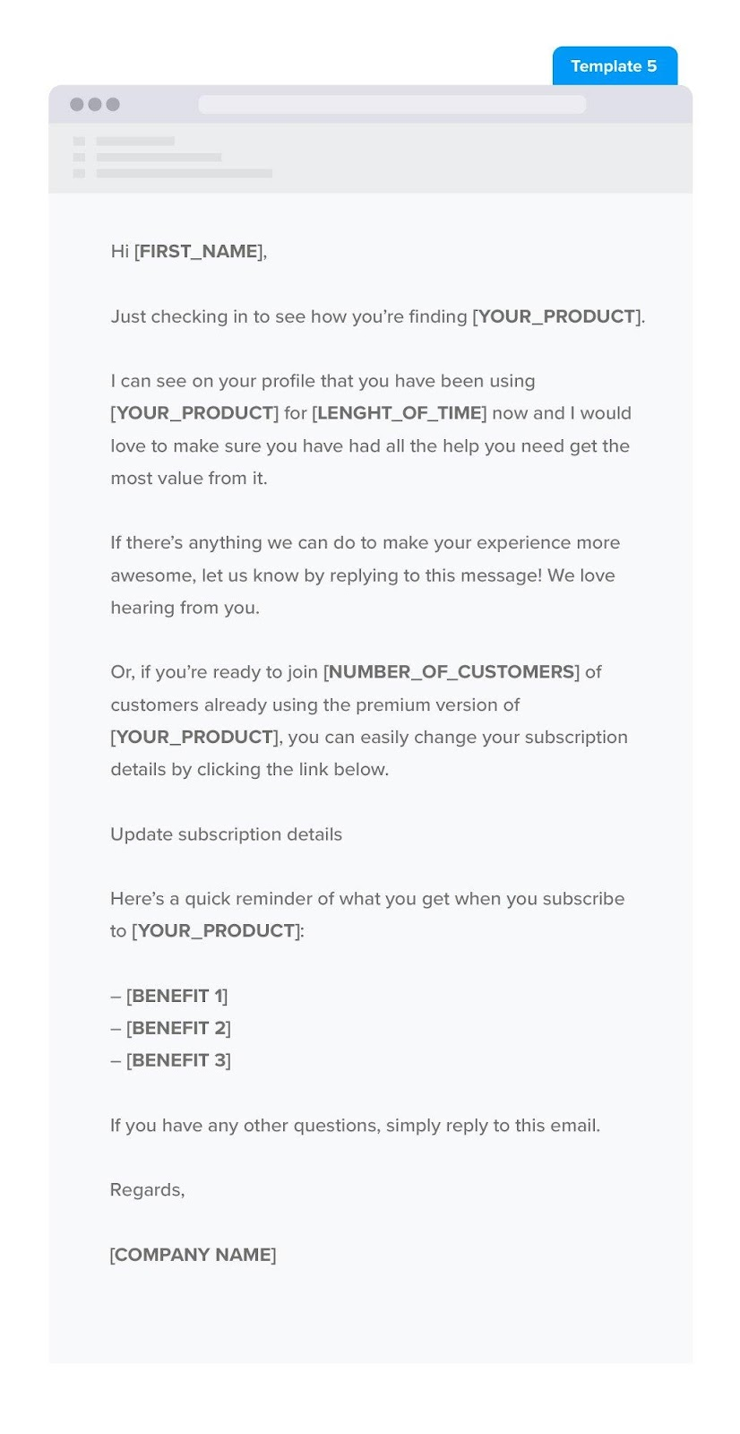 Subscribe to paid plan follow up email