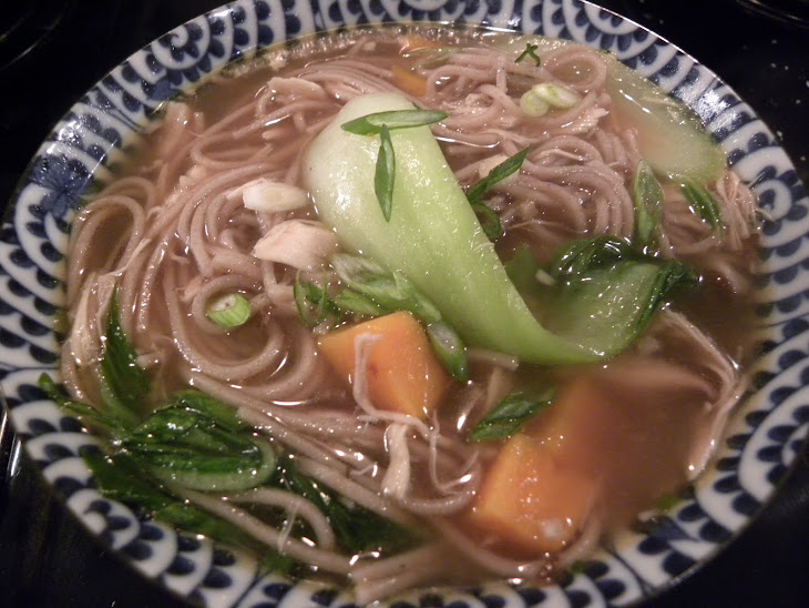 Asian Chicken Soup with Baby Bok Choy and Sweet Potatoes Recipe