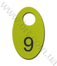Photo: Двусторонний номерок в гардероб. Двухслойный пластик желто-черный, лазерная гравировка, склейка пластика