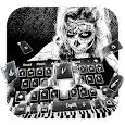 Zombie sugar Skull Piano Theme Keyboard icon