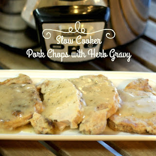 Slow Cooker Pork Chops with Herb Gravy.