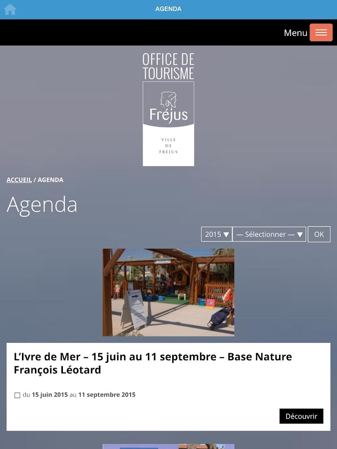 Fréjus Tourism- screenshot