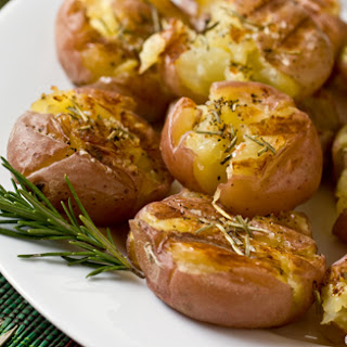 Grilled Smashed Potatoes.