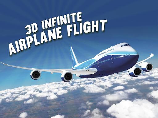 三維無窮飛機航班 - 免費飛行員賽車遊戲
