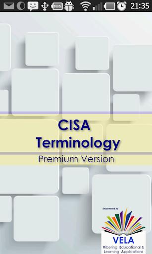 CISA Terminology 590 notes