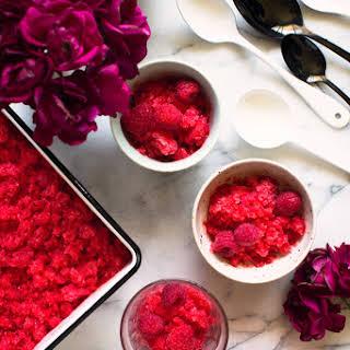 Raspberry Elderflower Granita.