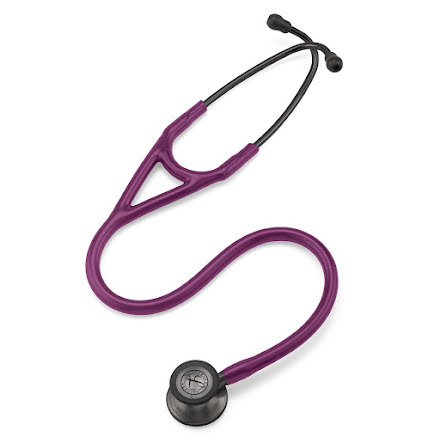 Littmann Cardiology IV Stetoskop Smoke Finish Chestpiece-Plum Tube