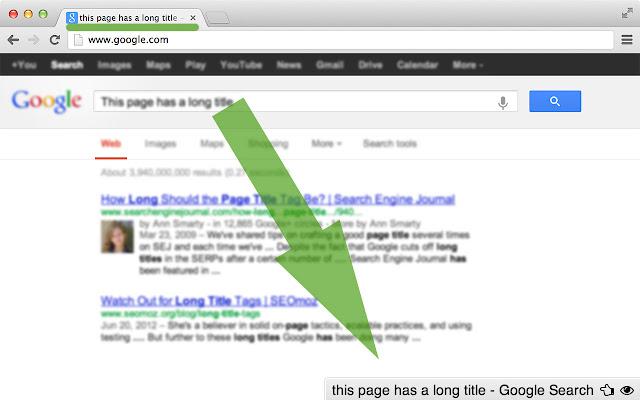 Show Title URL - SEO Tools