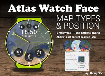 HuskyDEV Atlas Watch Face - náhled