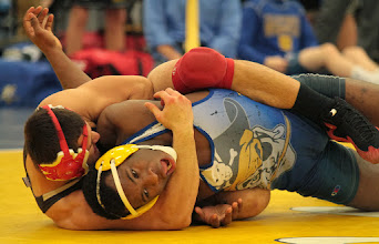 Photo: 195 Ronald Picado (Bound Brook) over Daryale Harris (Hastings) Dec 3-2. Photo by Jeff Beshey.