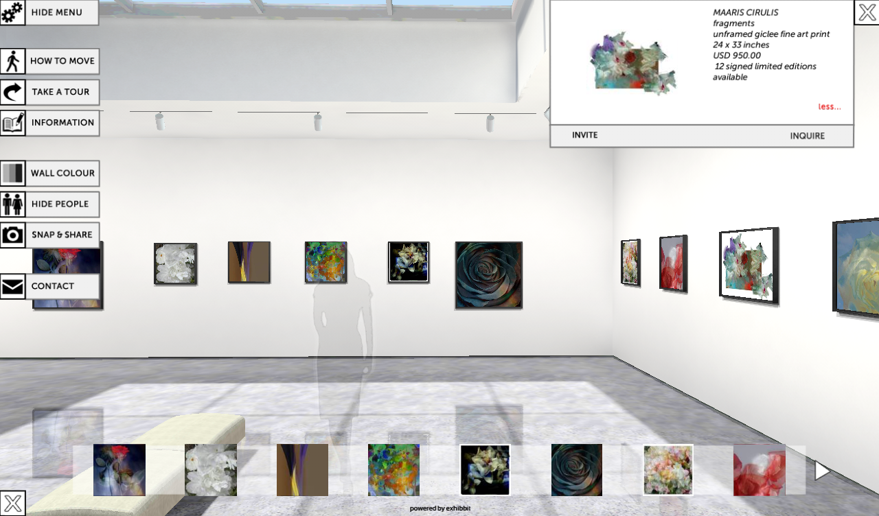 Exhibbit 3d online art gallery android apps on google play for Online art gallery paintings