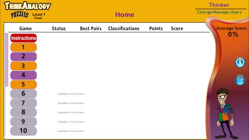 玩免費教育APP|下載ThinkAnalogy™ Puzzles 1 (Free) app不用錢|硬是要APP