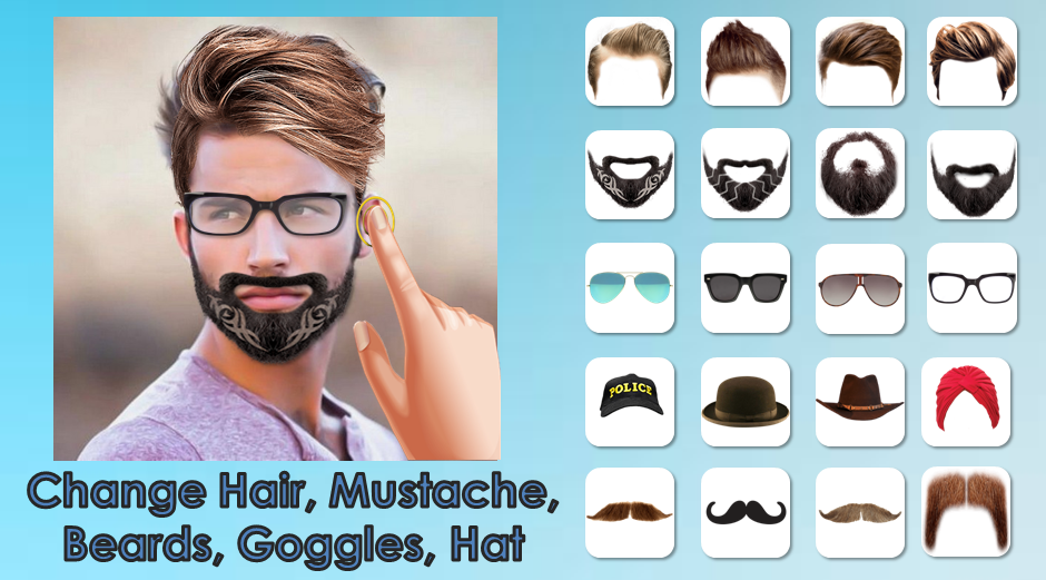 Man hairstyle photo editor android apps on google play for Who can design an app for me