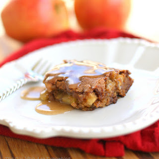 Apple Pudding Cake with Cinnamon Butter Sauce