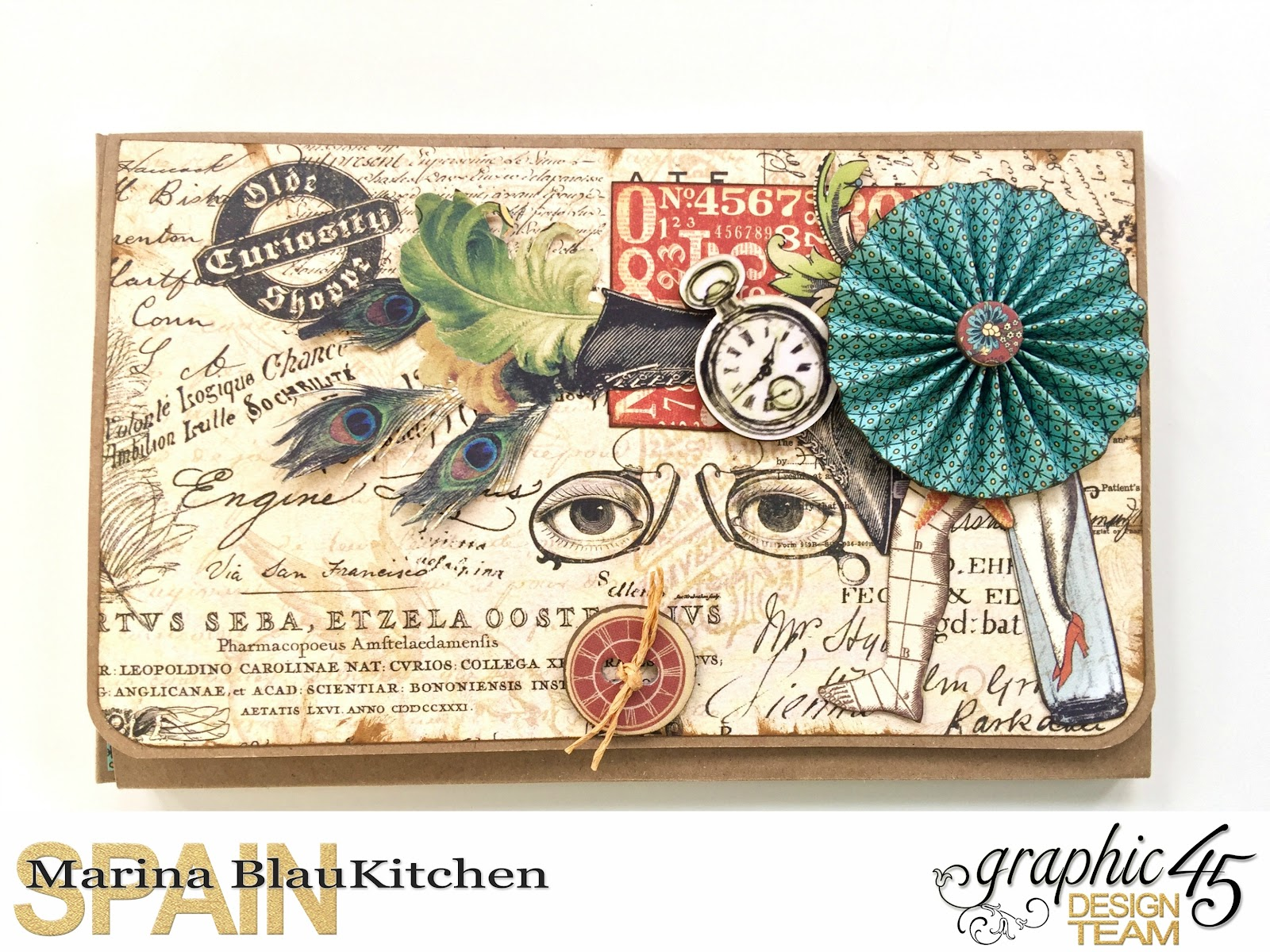 Olde Curiosity Shoppe Flip Fold Mini Album by Marina Blaukitchen Product by Graphic 45 photo 1.jpg