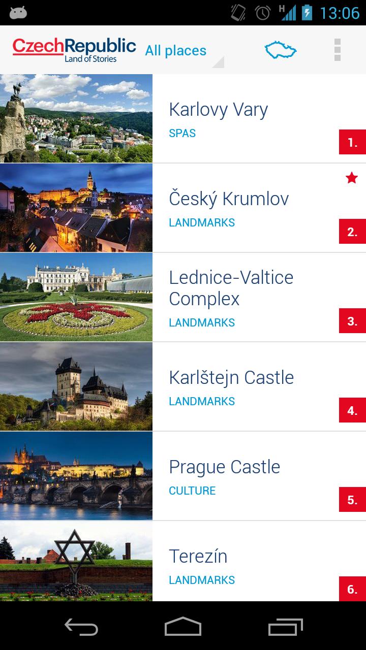 Скриншот TOP100 Czech Republic's sights