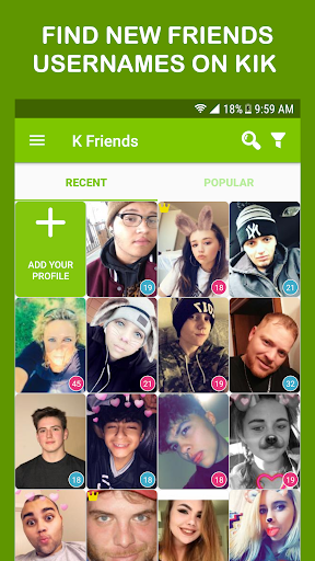Get Friends for Kik, Snapchat & Kik Usernames  screenshots 1
