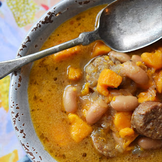 Cajun Bratwurst Slow-Cooker Soup.