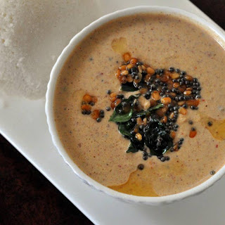 South Indian Peanut Chutney Recipe With Tomatoes