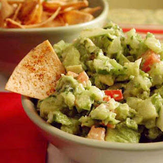 Guacamole with Chipotle Tortilla Chips.