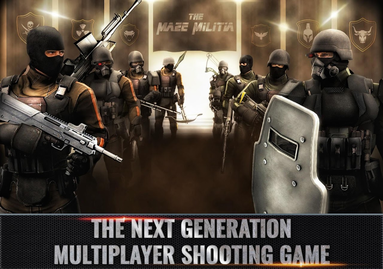 MazeMilitia: LAN, Online Multiplayer Shooting Game- screenshot