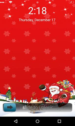 Santa Claus 3D Locker Theme