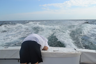 Photo: Adam is not. He did not take well to the seas initially.