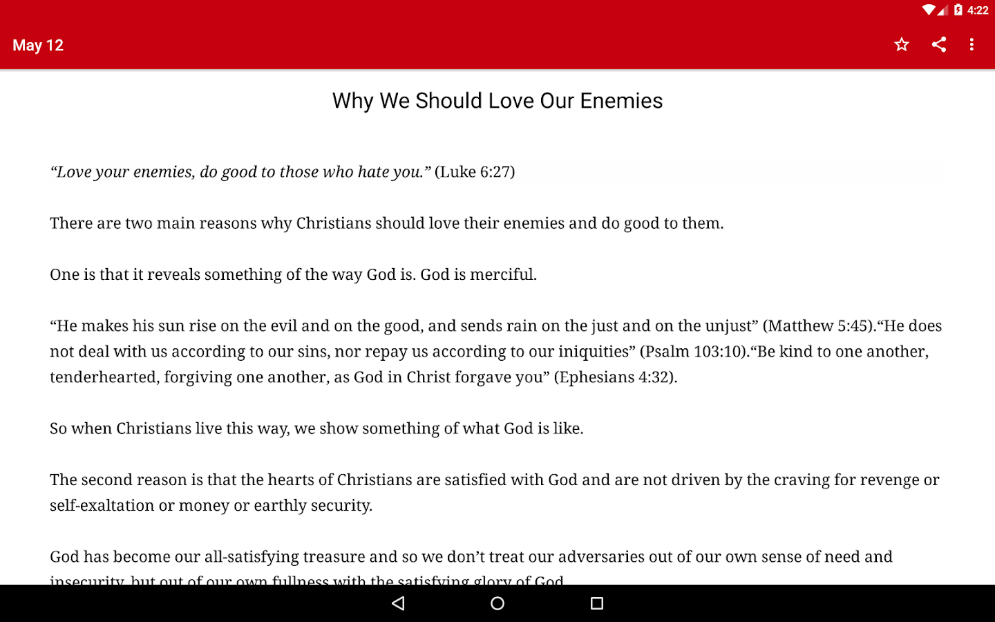 John Piper Daily Devotional- screenshot