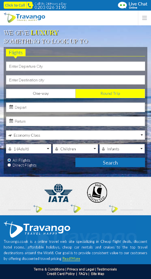 Travango - Book Flights & More- screenshot