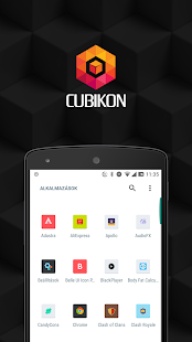 Cubikon flat icon pack for nova launcher Screenshot