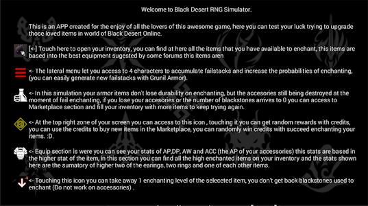 Download Black Desert RNG Simulator APK latest version game