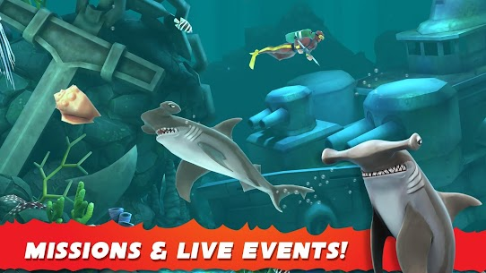 Hungry Shark Evolution MOD 5.9.2 (Unlimited Coins/Gems) Apk 4