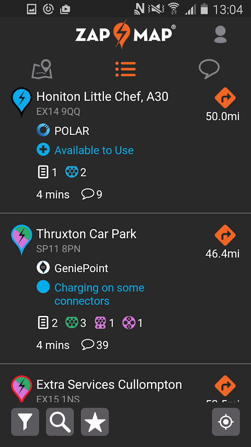 Zap-Map: EV charging points UK- screenshot