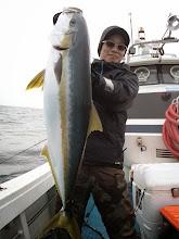 Photo: おおーっ! いいサイズです! ヒラス6.7kgでした!