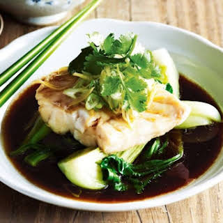 Chinese Steamed Fish With Ginger.
